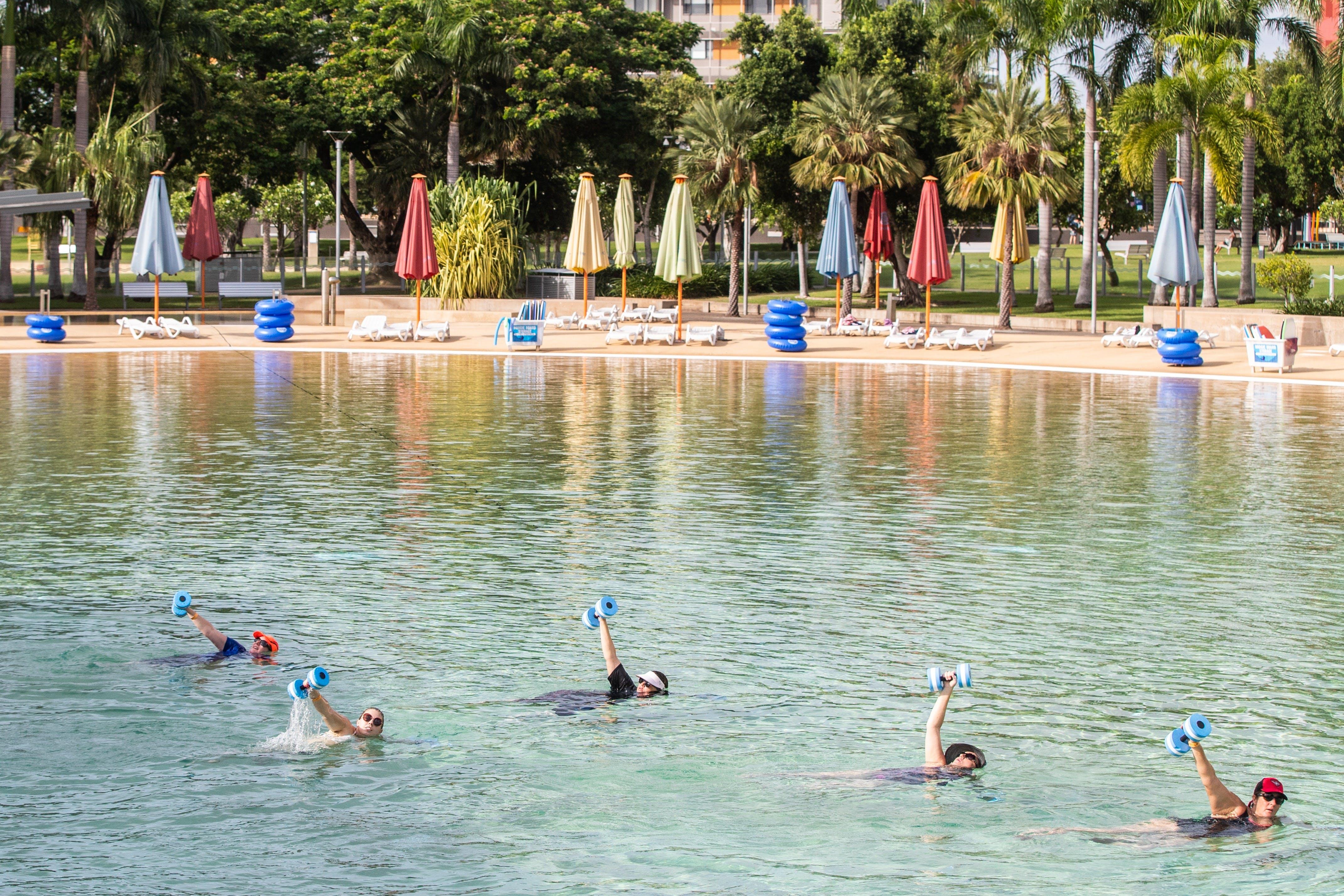 Aqua fitness in the Wave Lagoon - Accommodation Guide