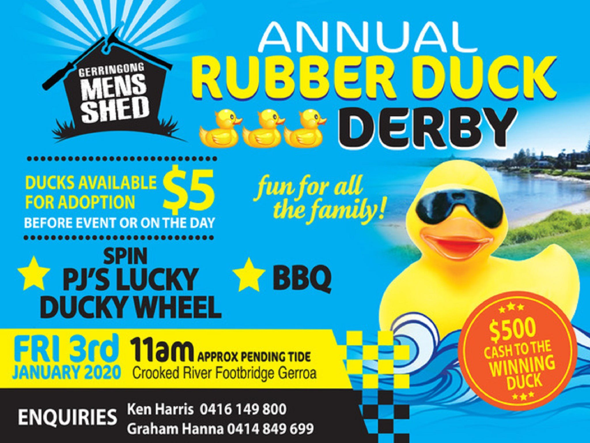 Gerringong Mens Shed Annual Duck Derby - Accommodation Guide